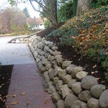 Natural Fieldstone Retaining Walls